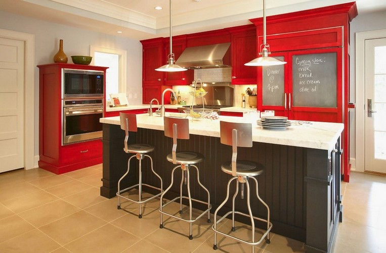 Kitchen color colors red 3