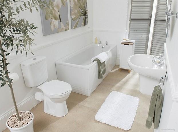 White bathroom decoration 2
