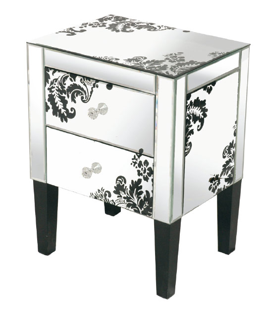Mirrored side table 3