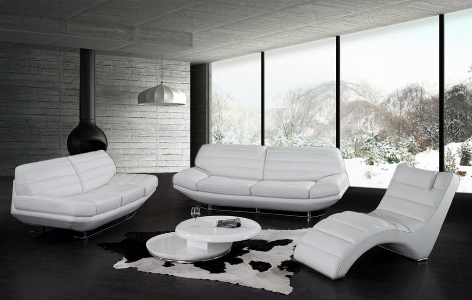White leather sofa 2