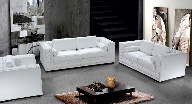 White leather sofa 3