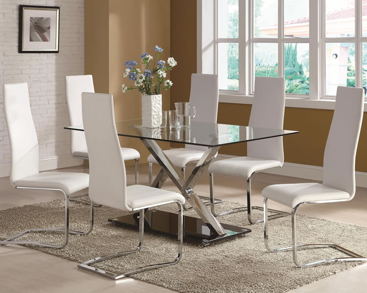Dining table with glass top 2