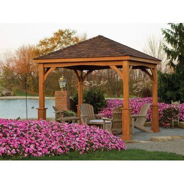 ... china flat roof garden line wooden gazebo