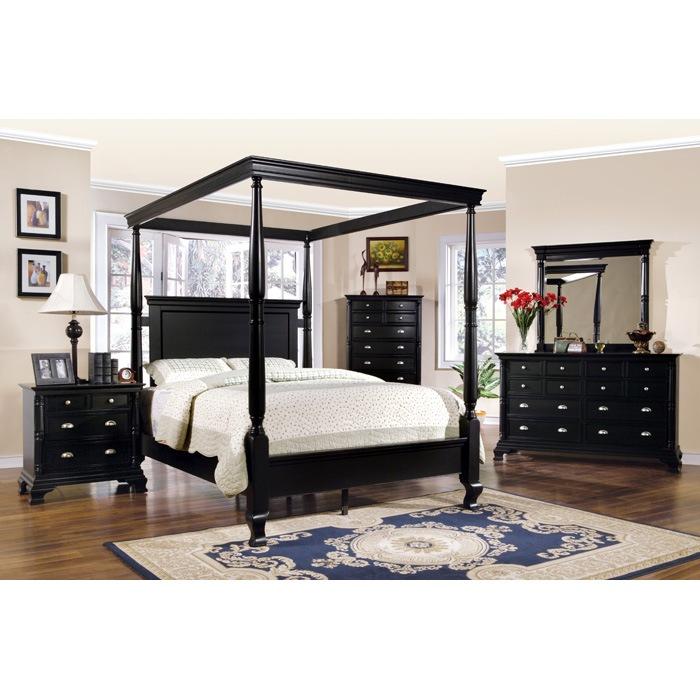 ... st. regis black canopy bed - ytf-sr820 VWRUDBH