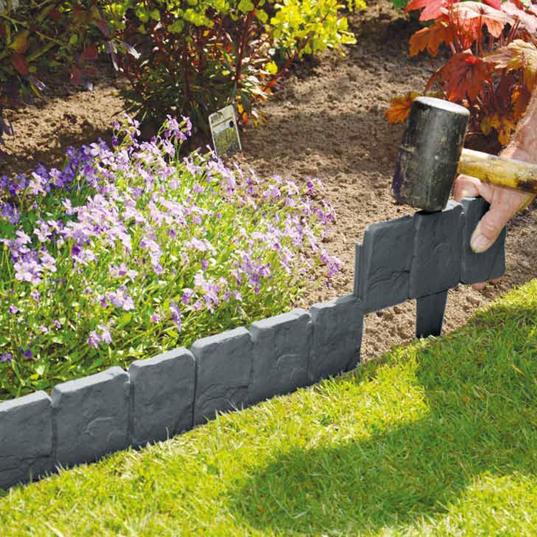 10 pack lawn edging cobbled stone effect plastic garden edging hammer in KISNYXR