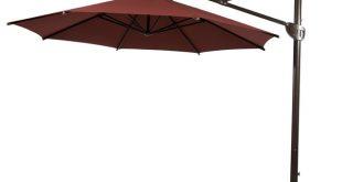 11u0027 heavy duty offset cantilever outdoor umbrella, vertical tilt, ... IOEJSTY