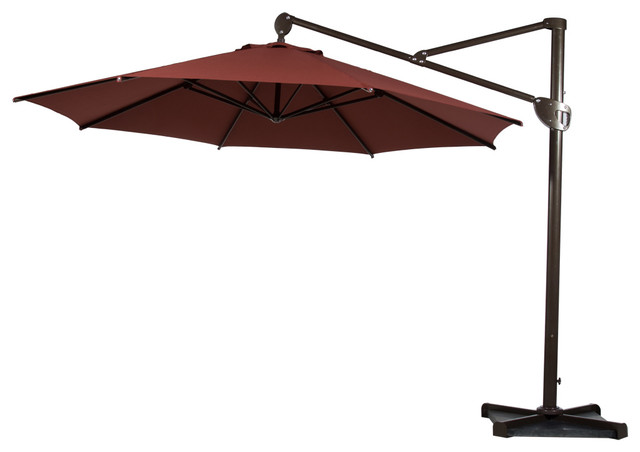 11u0027 heavy duty offset cantilever outdoor umbrella, vertical