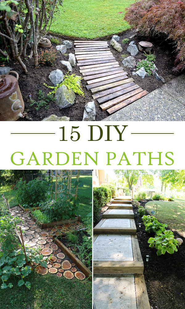 15 creative diy garden path ideas LQSLQWB