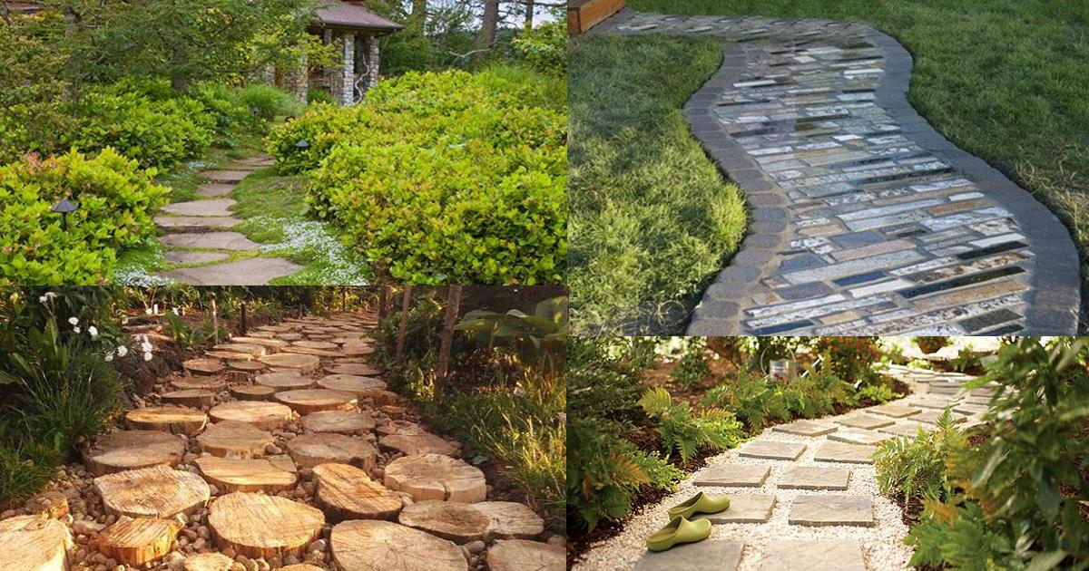 19 diy garden path ideas with tutorials | balcony garden web UBFYYTW