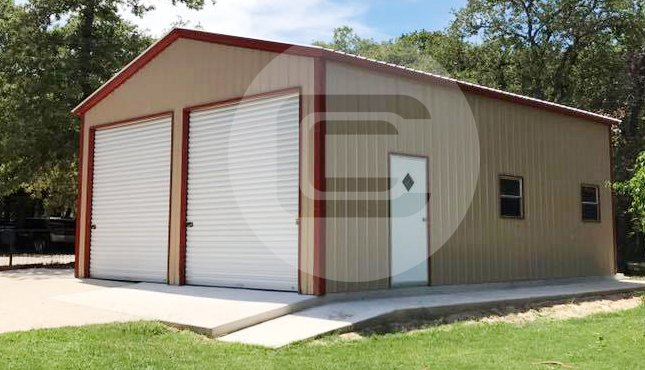 2 car metal garage - 24×36 ... MBGKUDT