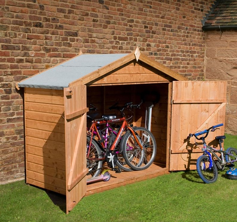 3 different types of Bike storage shed