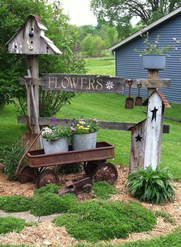 20 country garden decoration ideas UPAMQTO