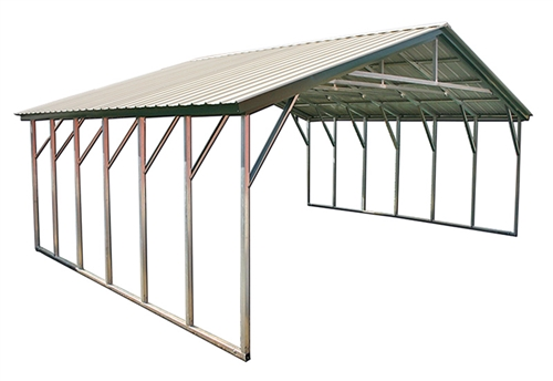 30x41 vertical triple wide metal carport ODFMTUG
