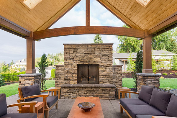 5 amazing outdoor fireplace ideas for your home QMDNROV
