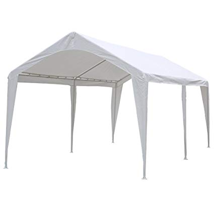abba patio 10 x 20-feet outdoor carport canopy with 6 steel legs, ZSWGAQS