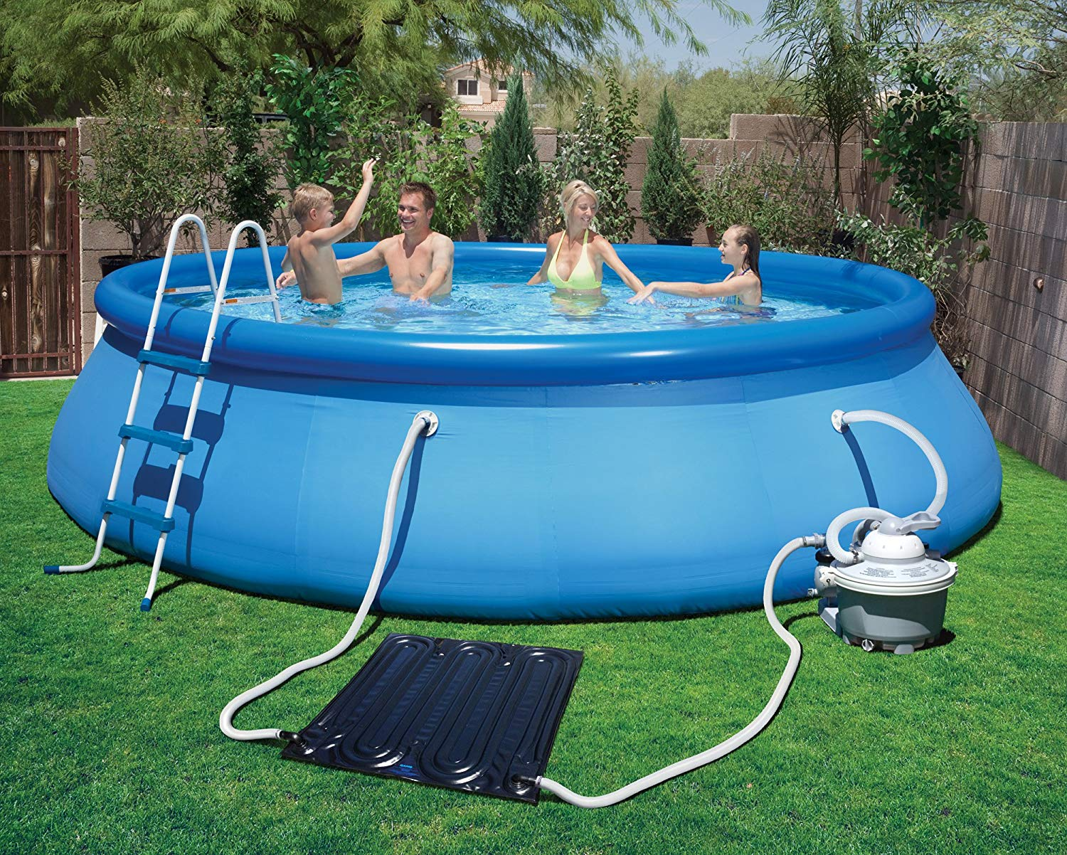 above ground pool amazon.com : blue wave ns6012 solarpro ez mat solar heater for above VVITKLF