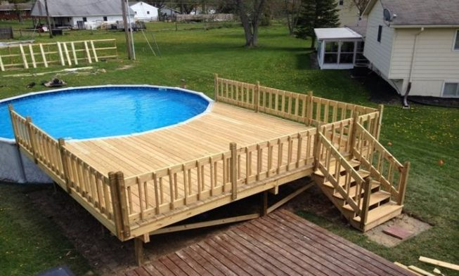 above ground pool deck ideas 16 spectacular above ground pool ideas you should steal HXGOGPN