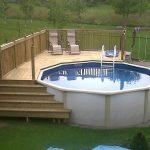 Astonishing above ground pool decks ideas