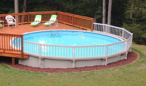 above ground pool resin pool fence kit for