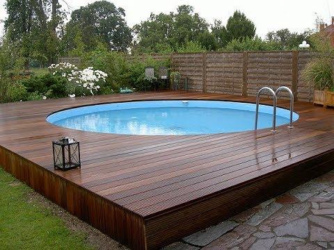 above ground pools with decks above ground pool decks - 40 modern garden swimming pool design ideas KQJZGCA