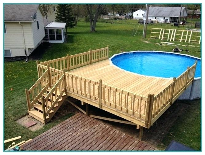 above ground pools with decks above ground pool