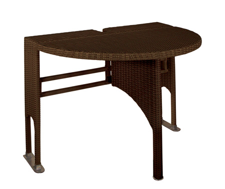 adena wicker folding patio table MVJGHDC