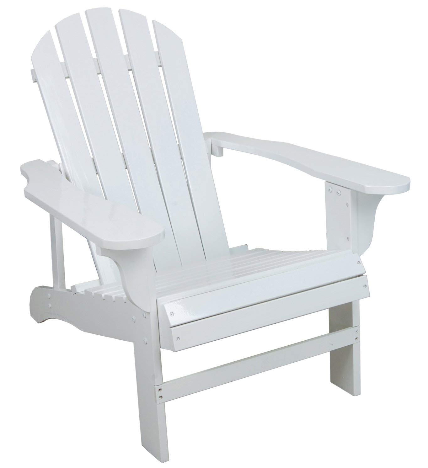 adirondack chairs amazon.com : classic white painted wood