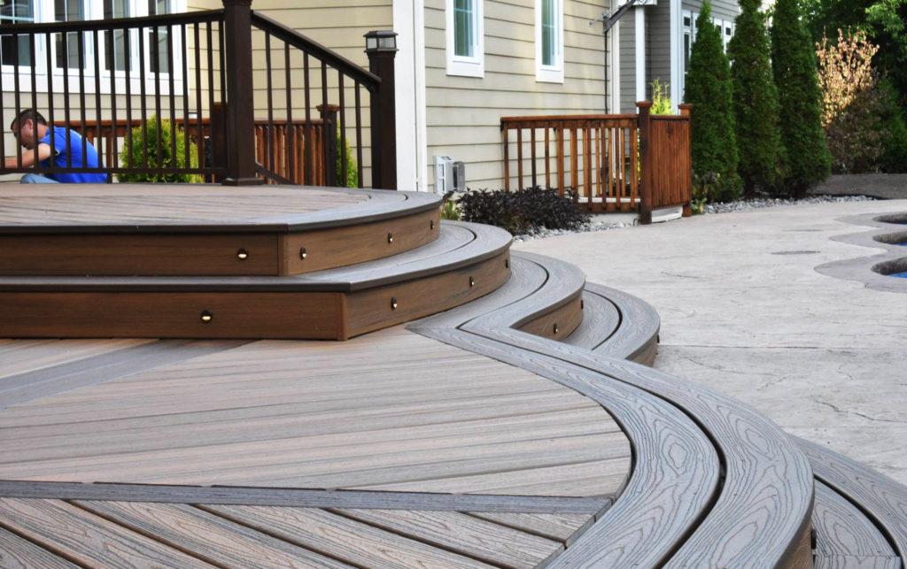 amazing composite deck installation in utica, ny SMSXGMY