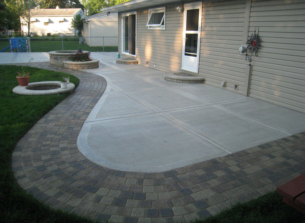 amazing of cement slab patio ideas choosing a good cement patio ideas HNQWOBV