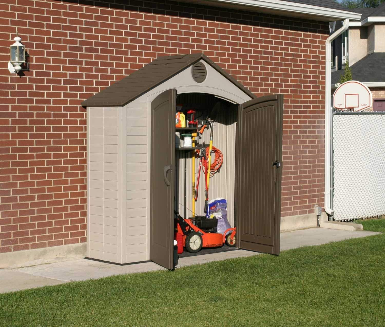 amazon.com : lifetime outdoor storage shed, 8 x 2.5 feet : garden LHAHRFX