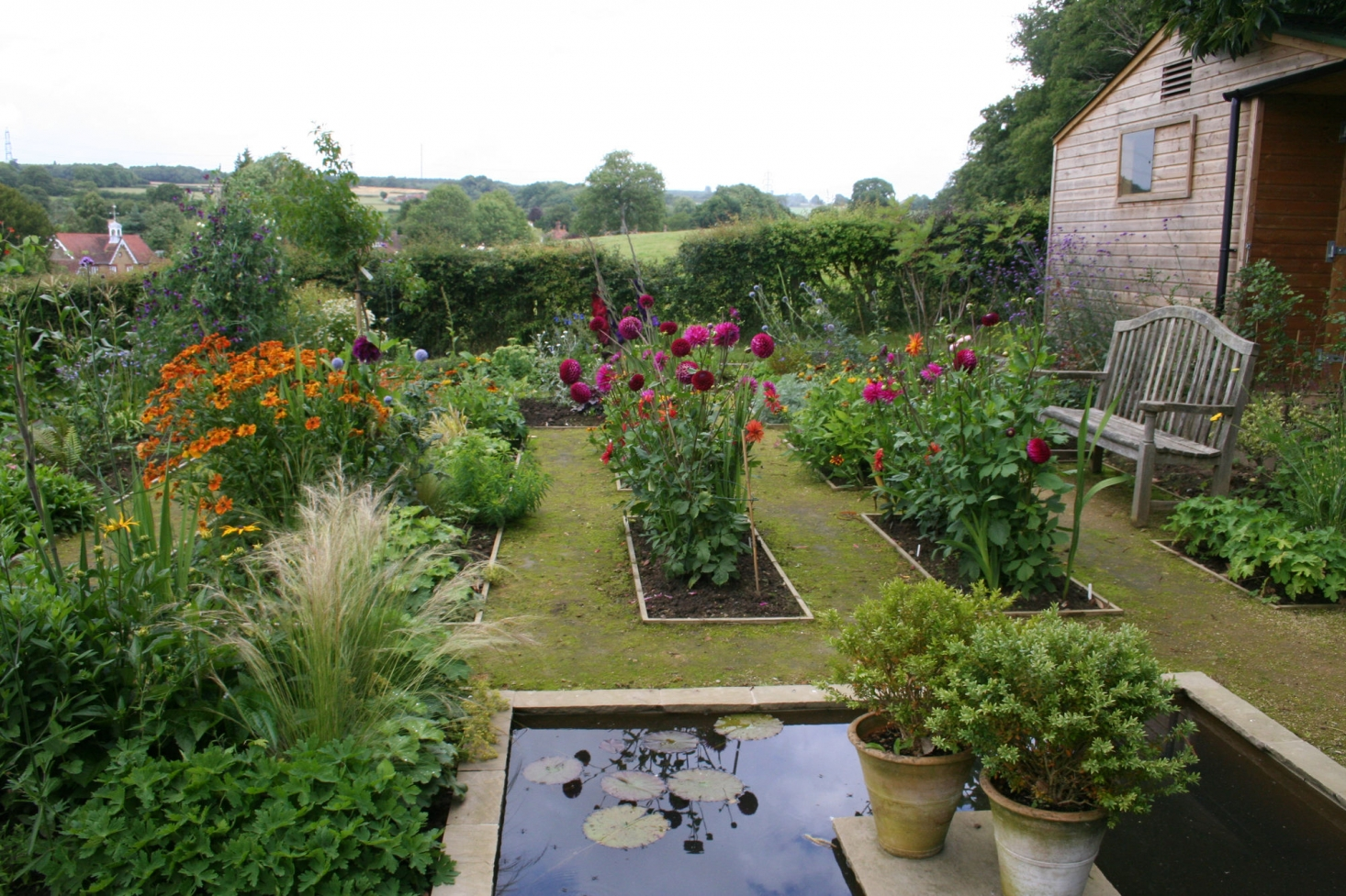 annie guilfoyleu0027s kitchen garden includes beds of colorful
