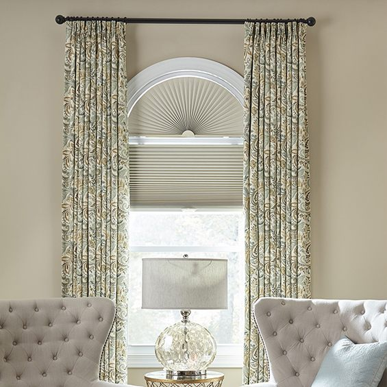 arched window treatments bella view: prestige blackout cellular arch YTACXVK