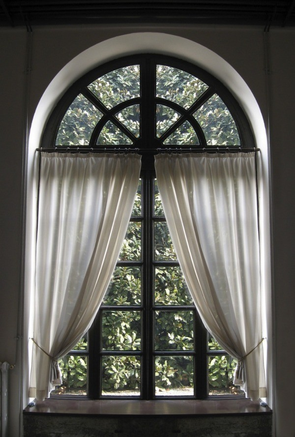 arched window treatments making a curtain for an arched window | thriftyfun UQFKYRV