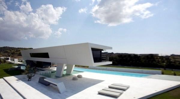 architektur - minimalist house design with pure geometric forms QCTTZDE