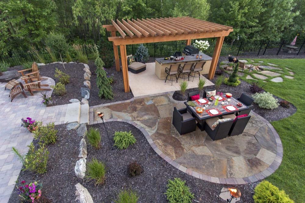attractive backyard patio designs VMALCYV