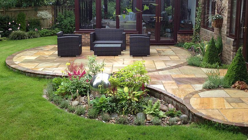 awesome garden patio ideas uk patio design and natural stone walling BUXWBUA