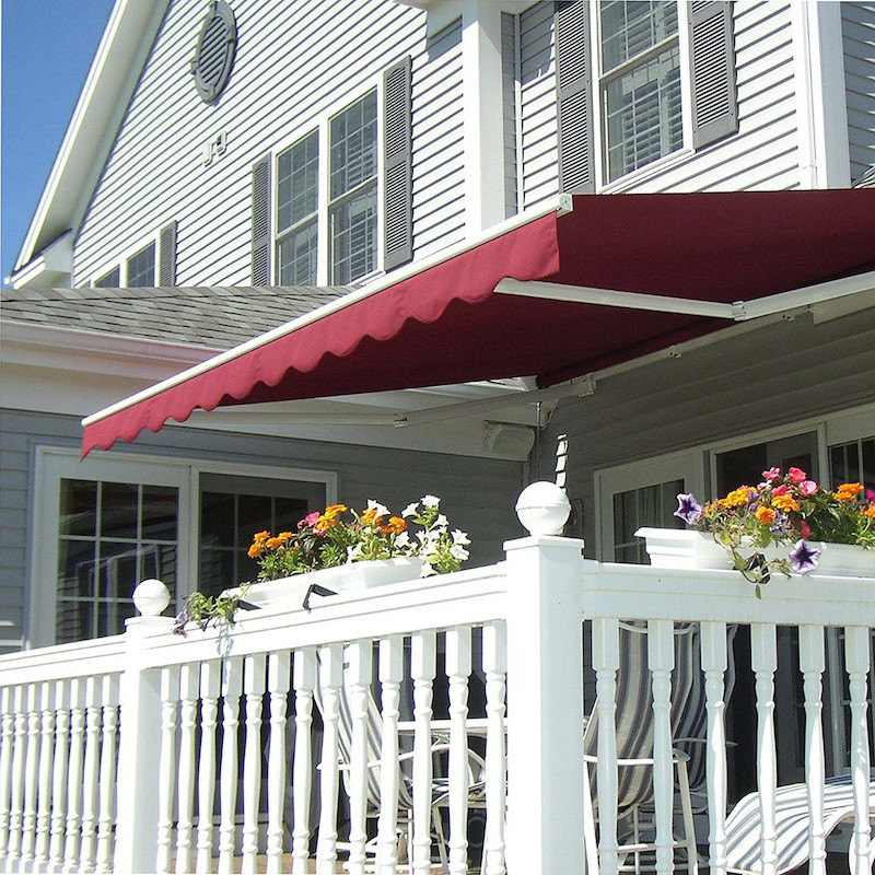 awnings for decks 5 different types of awnings to cover your deck OHYRXYY
