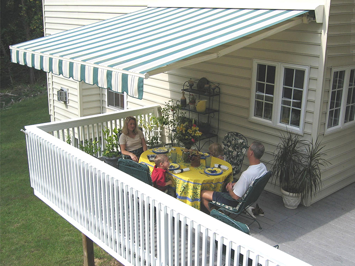 awnings for decks sunair awning extended image WKDLXKE