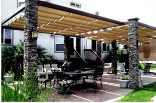 backyard canopy outdoor-pillars-patio-canopy JYNCYJO
