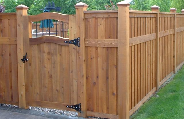backyard fence ideas privacy fence paradise restored landscaping portland, or GBQNXBV