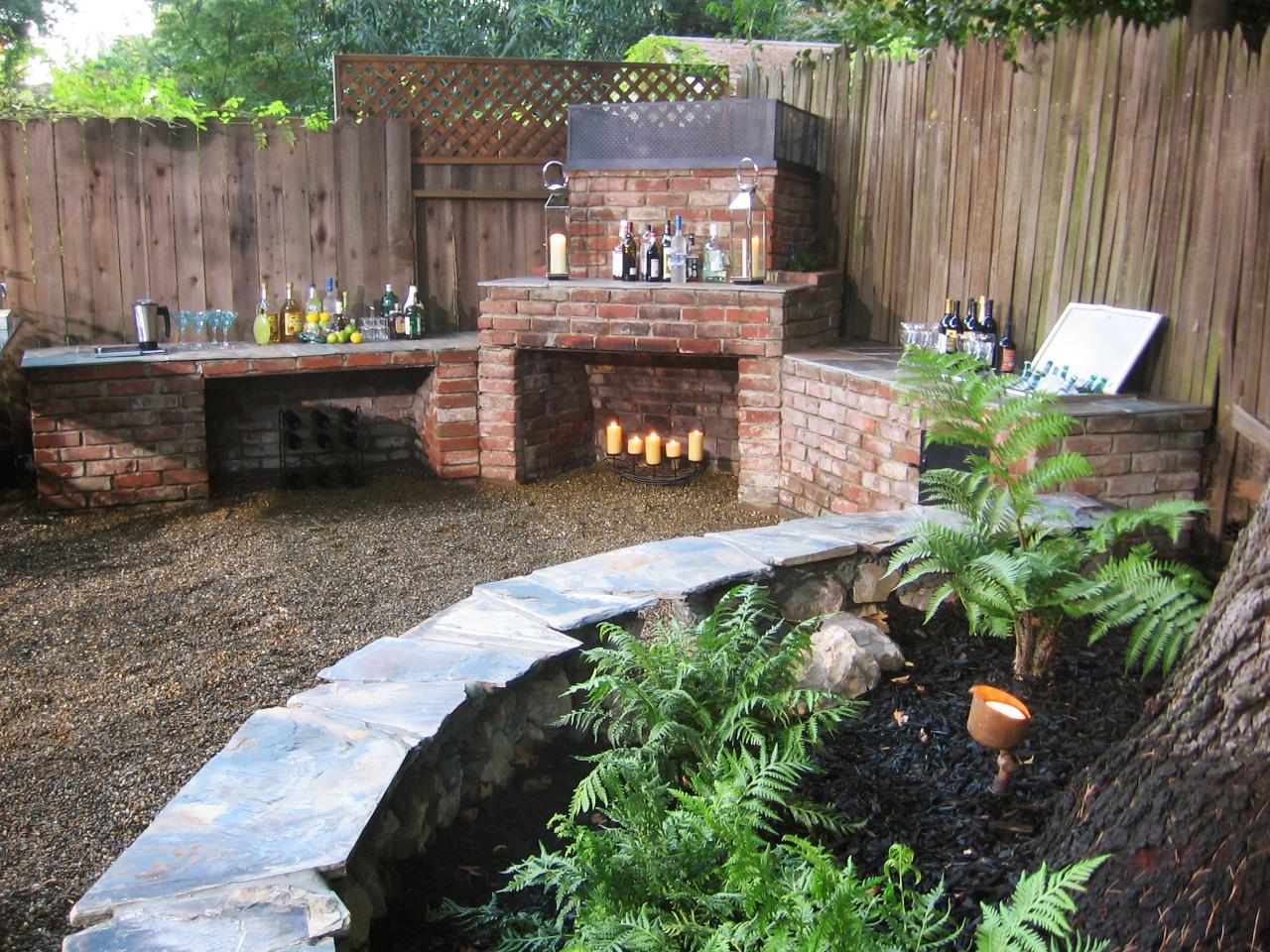 backyard fireplace featured in yard crashers episode  VMFAREN