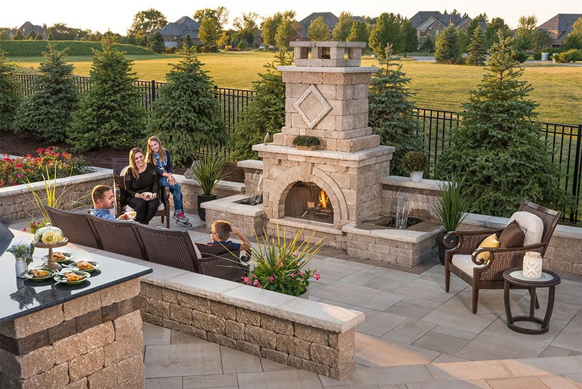 backyard fireplace outdoor fireplace design ideas: getting cozy with 10 designs QUXHCHH