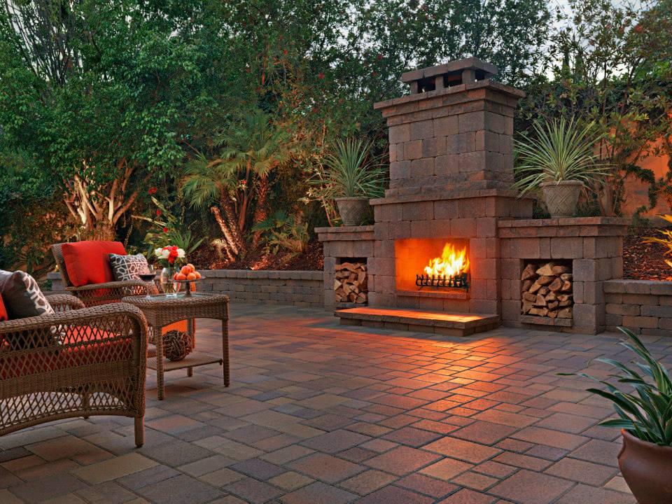 backyard fireplace san diego, candr pavers PJCNKTF