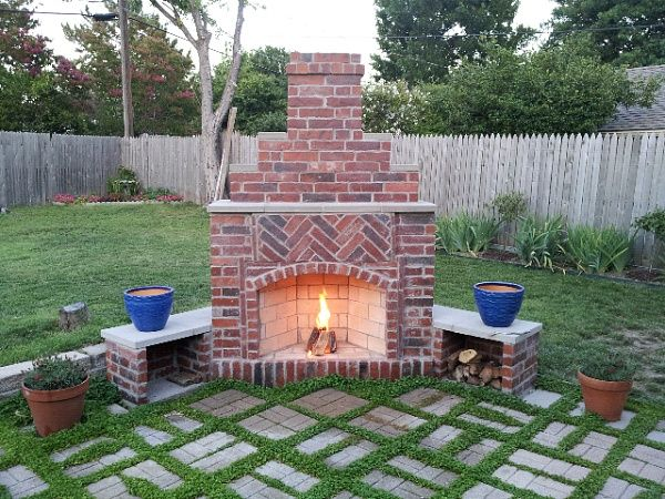 backyard fireplace small outdoor brick fireplaces | related post from diy outdoor fireplace EEMUWTS