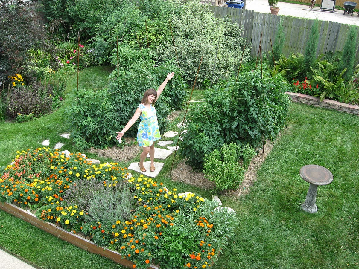 backyard garden: 6-foot tomato plants, racine, wisconsin FIJPFUM