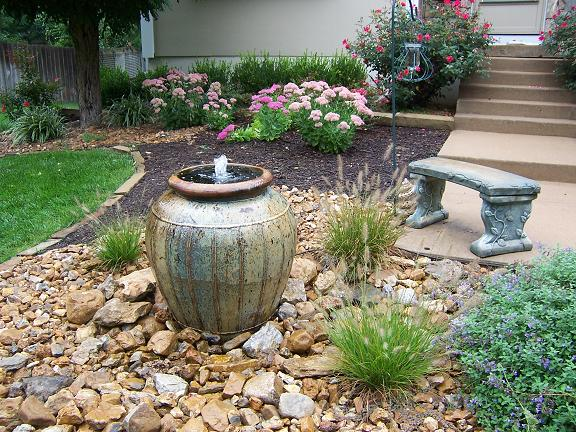 backyard garden fountains LUGWWNB