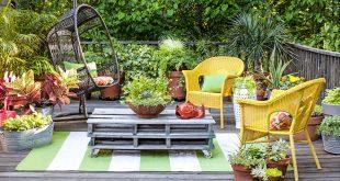 backyard garden ideas container gardening, potted plants LUFUKOM