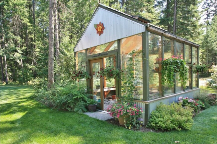 backyard greenhouse here is a simple greenhouse with