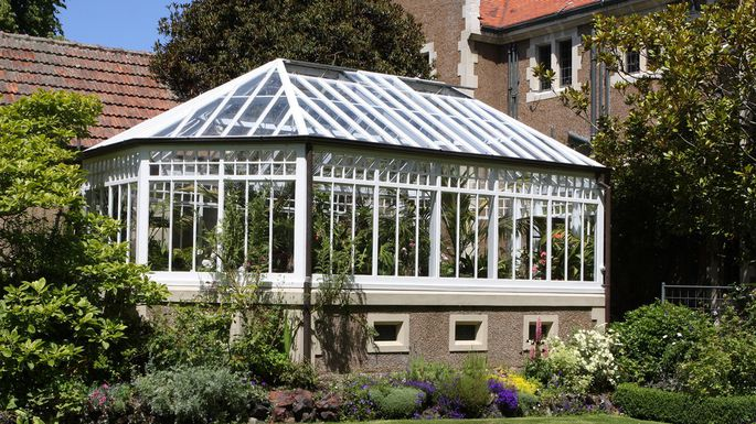 backyard greenhouse lean-to-greenhouse AIEJIPL