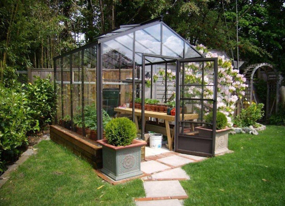 backyard greenhouse ready to assemble KZFUFJN